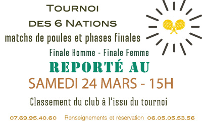 Finales Tournoi des 6 nations
