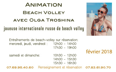 Animation de Beach Volley avec Olga Troshina