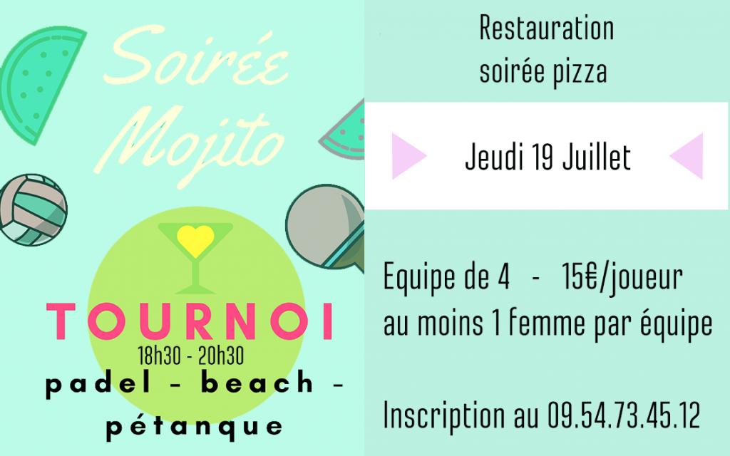 Tournoi Mojito Juillet 2018