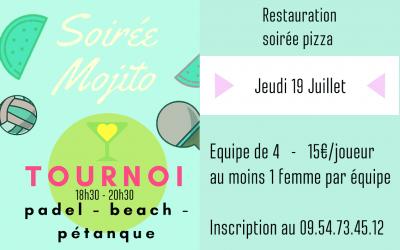 Tournoi & Soirée Mojito