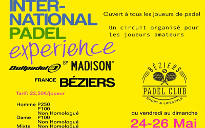 INTER-NATIONAL EXPERIENCE PADEL TOUR
