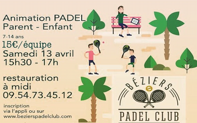 ANIMATION PADEL PARENT-ENFANT