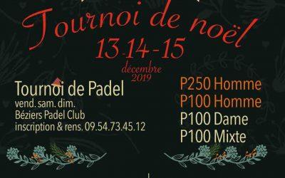 TOURNOI de Noël 13-14-15 Décembre