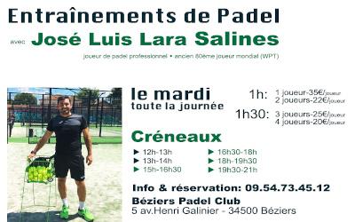Entrainement Padel José Luis Salines