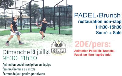 PADEL BRUNCH 19 JUILLET 2020