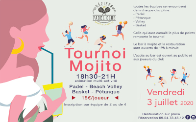 TOURNOI MOJITO 3 JUILLET 2020
