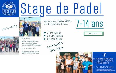 Stages de Padel Kids Juin 2020