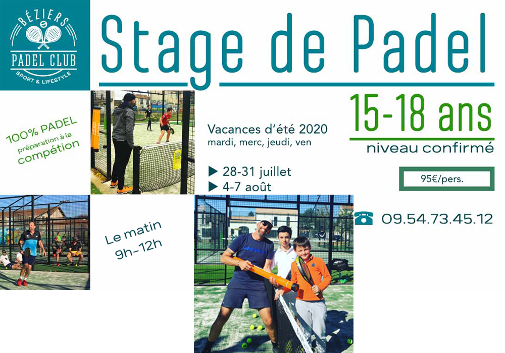 Stages Padel ETE 2020