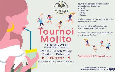 Tournoi Mojito du 21 Août 2020