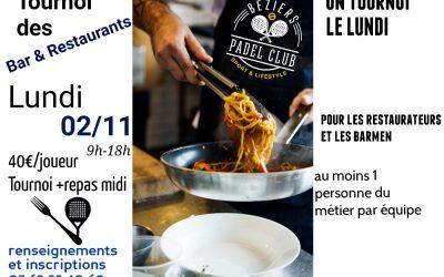 Tournoi des Bars & Restaurants Lundi 2 Novembre 2020