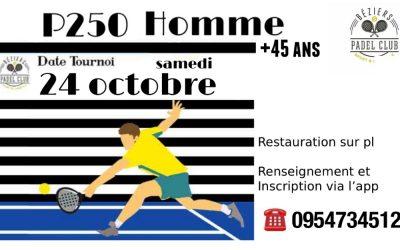 P250 Homme le 24 octobre 2020