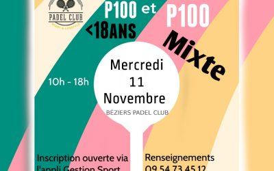 P100 Mixte et P100 moins de 18 ans le 11 Novembre 2020