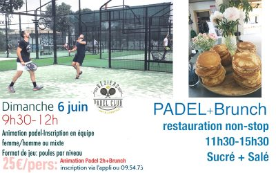 Padel Brunch Dimanche 6 Juin 2021