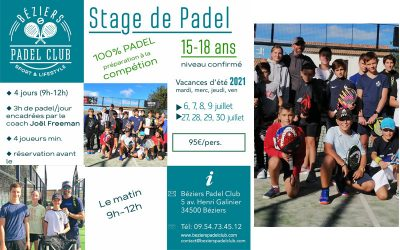 Stages Padel Ado ETE 2021
